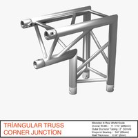 triangular truss corner junction 3d 3ds