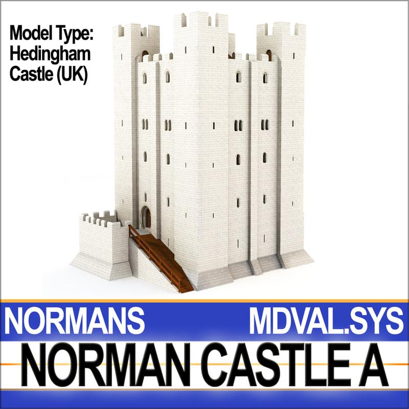3d c4d medieval norman castle hedingham