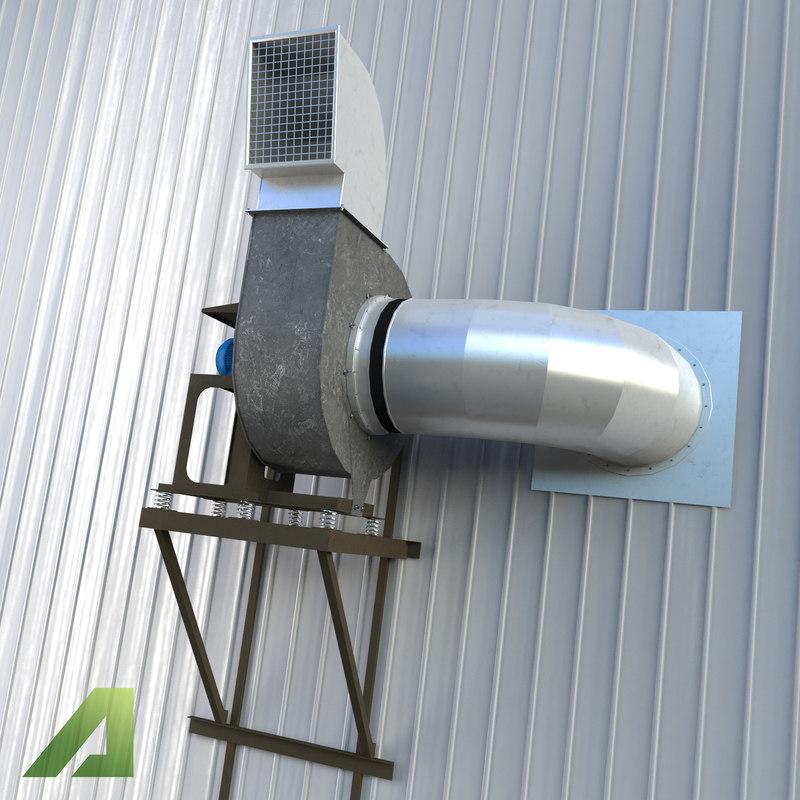 industrial ventilation 3d max