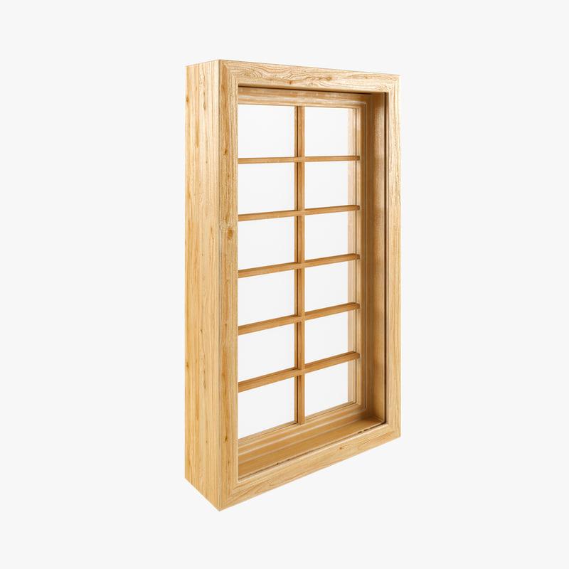 window wood frame 3d model