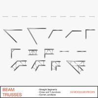 3d model beam trusses 003