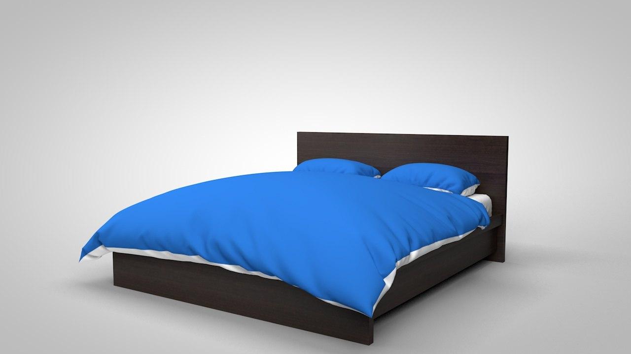 bed 3d c4d