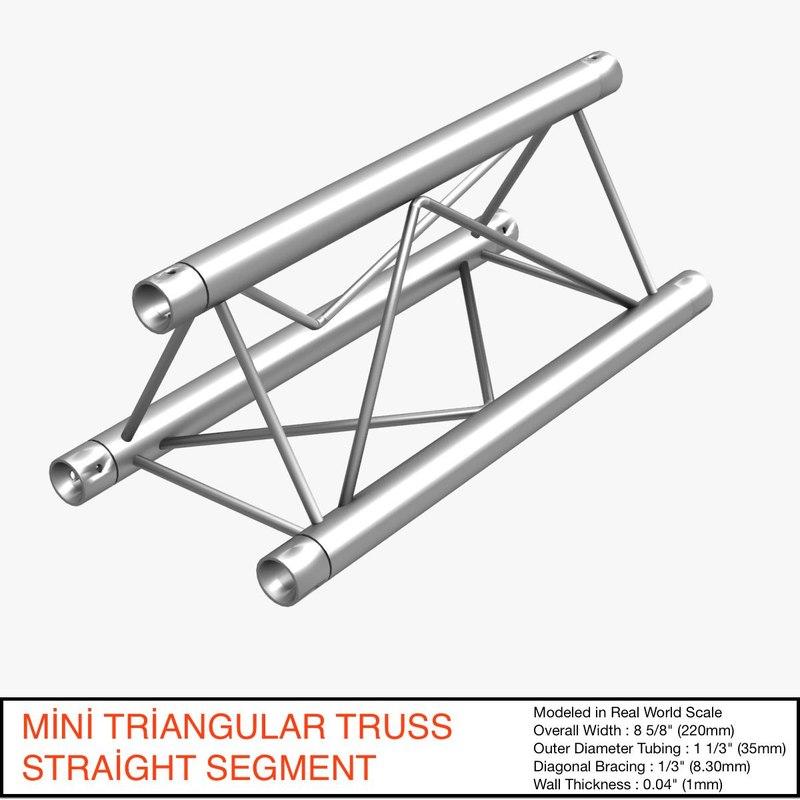 mini triangular truss straight max free