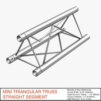 mini triangular truss straight 3d model