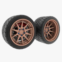3d model car 10ts tire