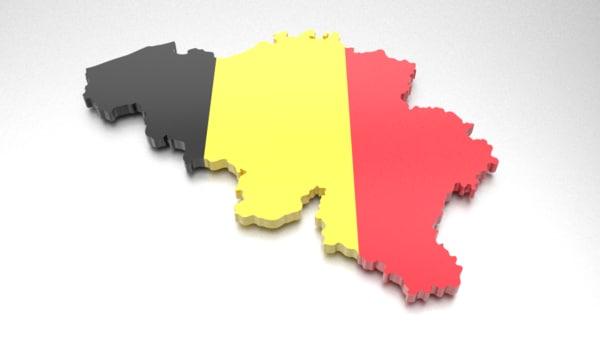 belgium flag 3d obj