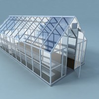 3d model greenhouse house