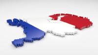 3d model netherlands flag