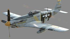 3d p-51d - model