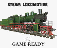 3ds soviet steam locomotive pbr