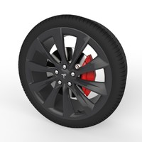 3d model of wheel tesla s