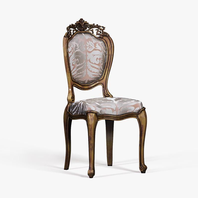 3d model baroque chair