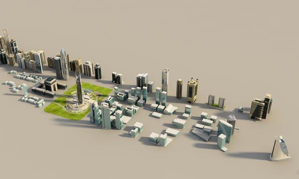 tower buildings zeyard road 3d max