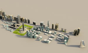tower buildings zeyard road 3d max