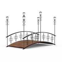 3dsmax wooden bridge lanterns