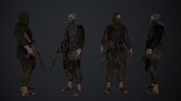 3d model terrorist