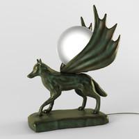 lamp wolf 3d model
