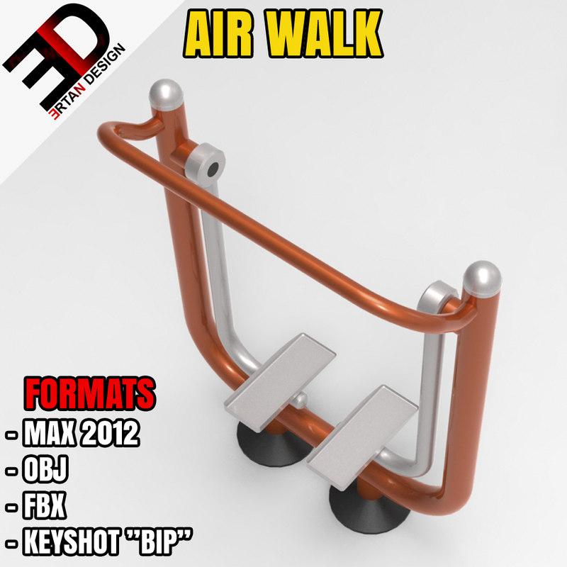 outdoor air walk 3d max