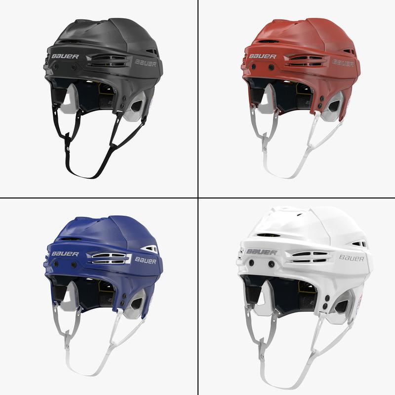 3d model hockey helmet bauer re-akt
