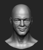 david gilmour head sculpt obj
