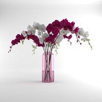 Orchid moth glass vase