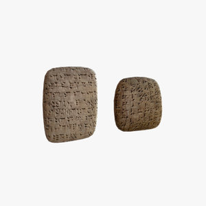 3d cuneiform clay tablets