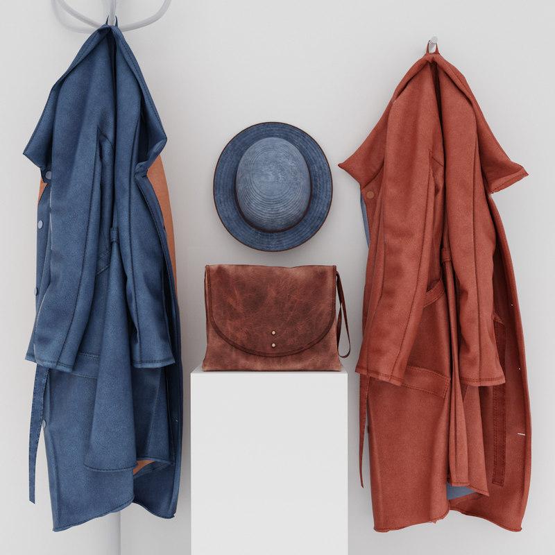 coat hook handbag 3d max