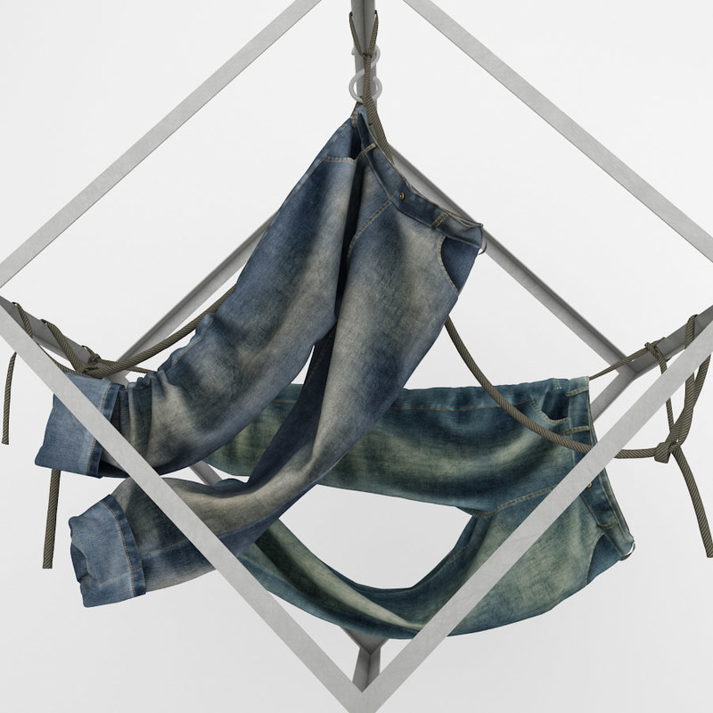 3d model of decor jeans