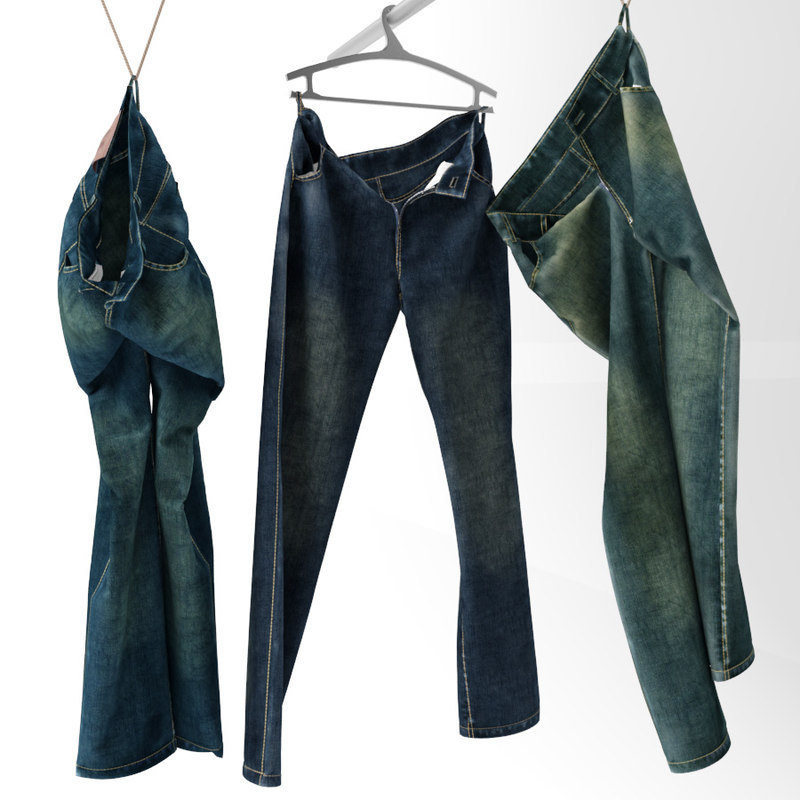 3d model of jeans hanger decor