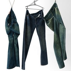3d model of jeans hanger decor