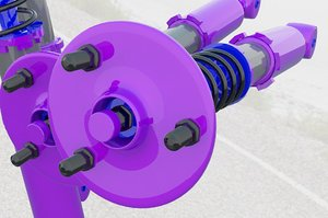 3d model coilovers suspension
