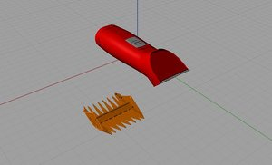 electric trimmer c4d