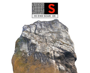 3d model rock forest autumn 8k