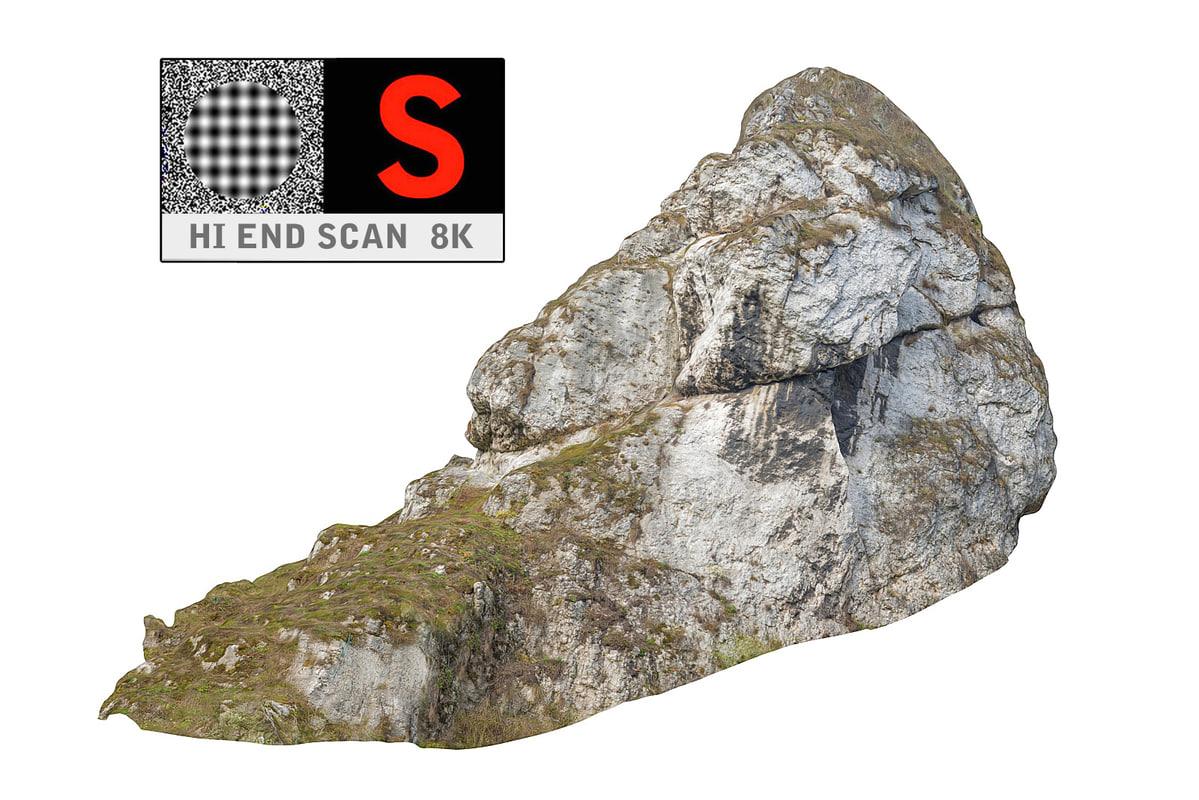 3d rock forest autumn 8k model