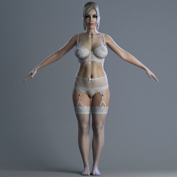 3d model female character