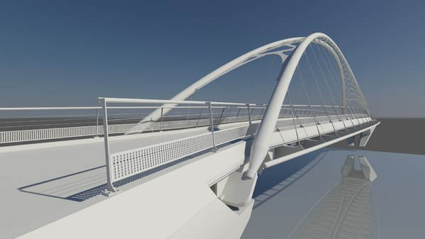 bridge calatrava 3d max