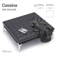 cassina volage ottoman 3d model