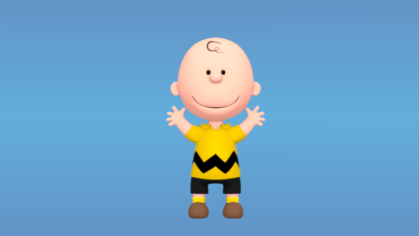 3d model peanuts charlie brown