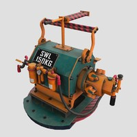 Steampunk winch engine