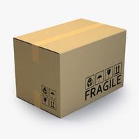 3d model large cardboard box