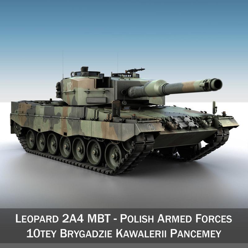 polish leopard 2a4 - 3d c4d