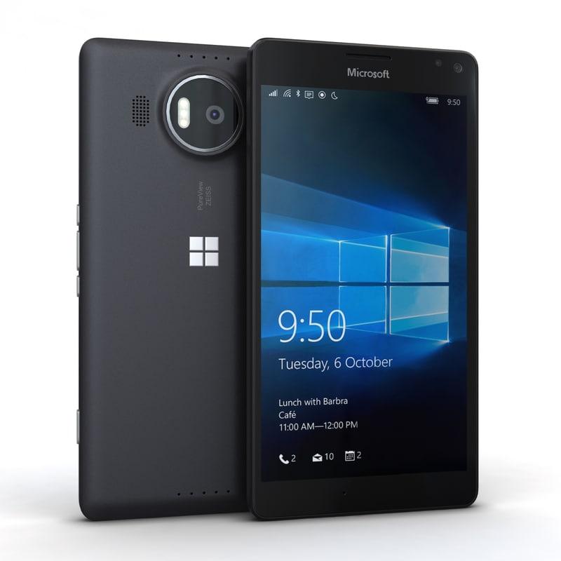 microsoft lumia 950 xl 3d c4d