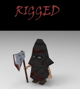 executioner rigged 3d max
