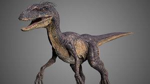 3dsmax velociraptor raptor