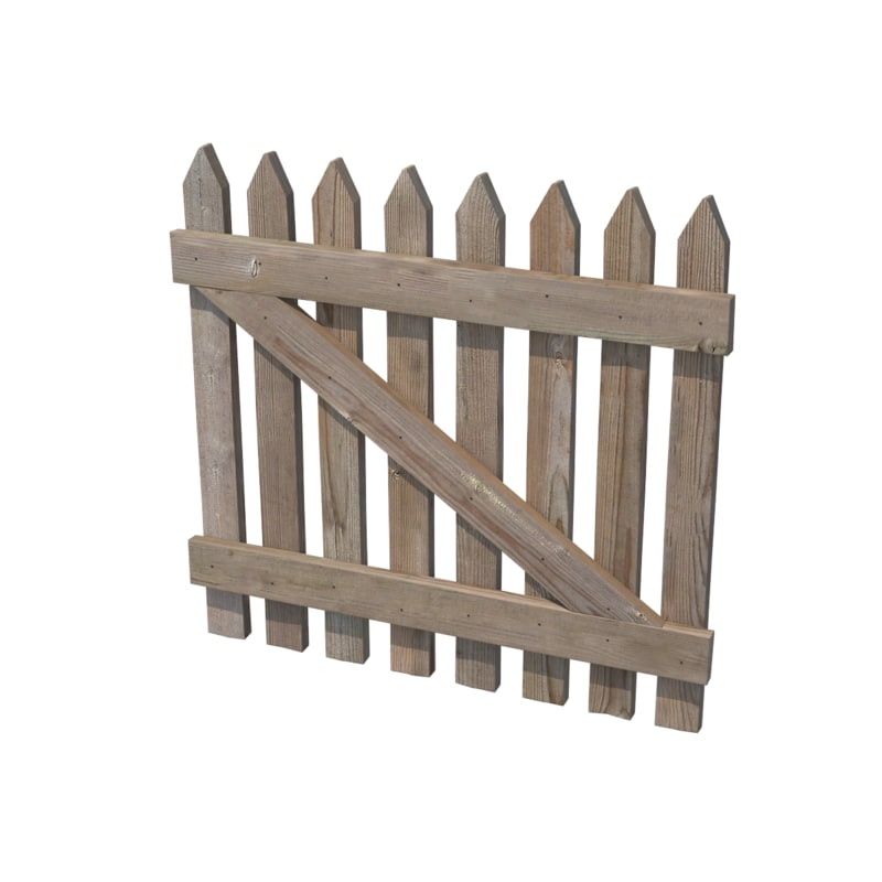 3d wooden fence model for 3d fence