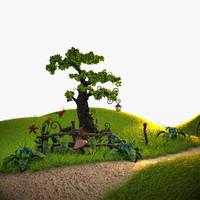 3d model of scene plants