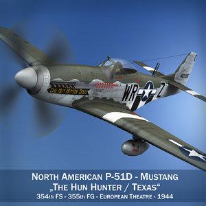 north american - hun 3d model