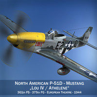 North American P-51D Mustang - Lou IV