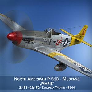 3d model north american - marie