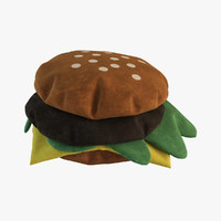 3d realistic burger pillows model
